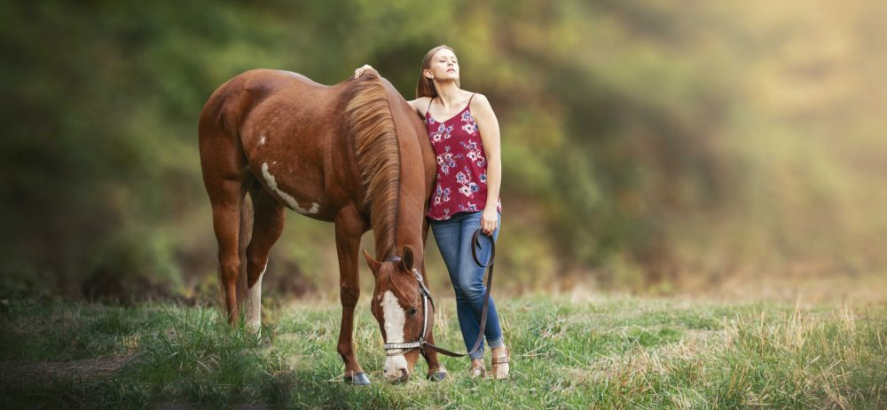 dreamy equine horse portrait photography senior