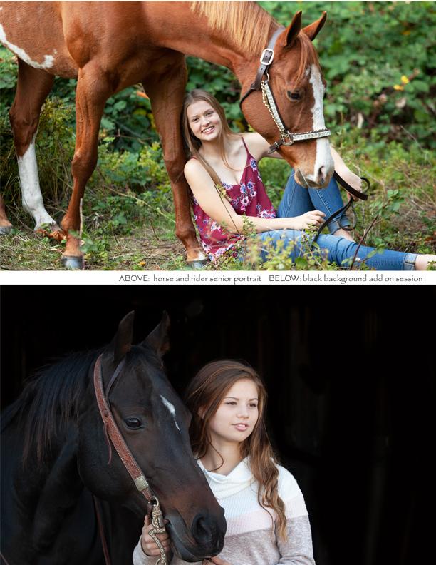 equine senior photography session pricing oregon senior photography horse